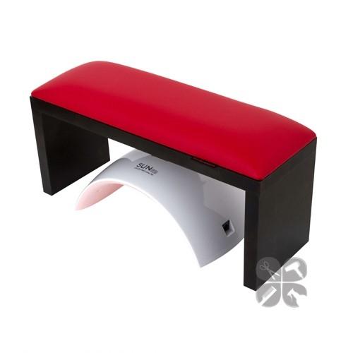Rainbow подлокотник для маникюра на черных ножках red
