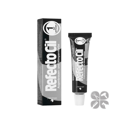 RefectoCil краска для бровей и ресниц №1 интенсивно-черный, 15 мл