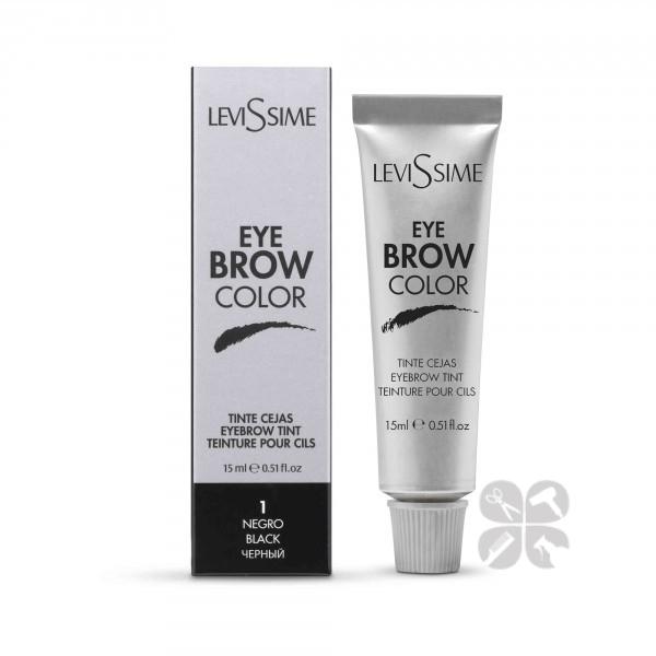 LeviSsime Eye brow color краска для бровей №1 черная, 15 мл